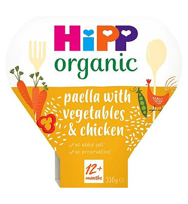 HiPP Organic Paella with Mixed Vegetables & Chicken 1-3 Years 230g
