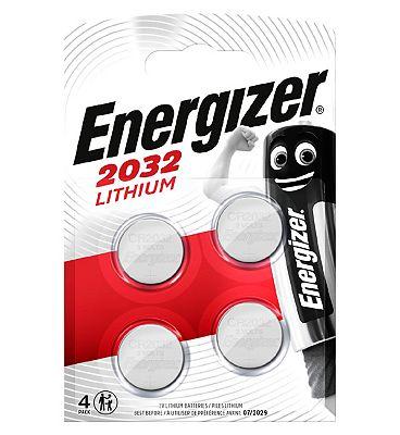 Energizer CR2032 Lithium 3V Battery x4