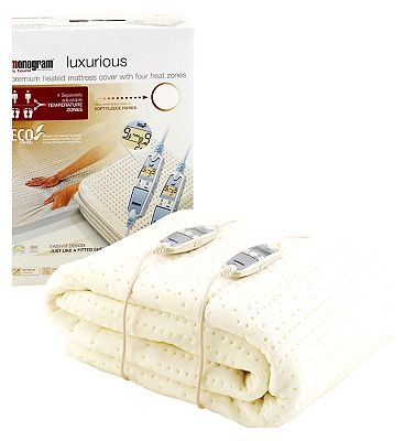 Monogram by Beurer Luxurious Heated Mattress Cover  KingDual