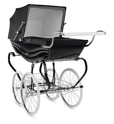 Silver Cross Balmoral Pram  Black