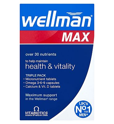 Vitabiotics Wellman Max 84 Tablets / Capsules