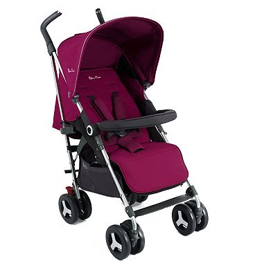 Silver Cross Reflex Pushchair - Raspberry