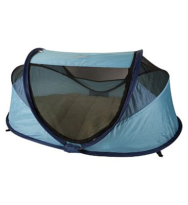 NSA Standard Travel Cot & UV Travel Centre  Ocean Blue