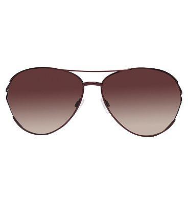 Boots Ladies Classic Red Wine Aviator Sunglasses