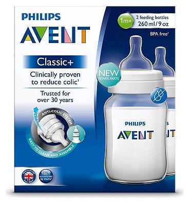 Philips Avent Classic+ 2 Feeding Bottles 1m+ 260ml