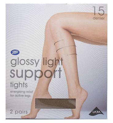 Boots gloss light support tights natural