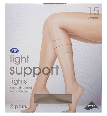 Boots light support tights natural tan