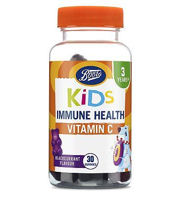 Boots Kids Immunity Gummies Blackcurrant Flavour 30 Gummies