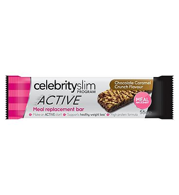 Celebrity Slim ACTIVE Caramel Crunch Meal Replacement Bar - 58g.
