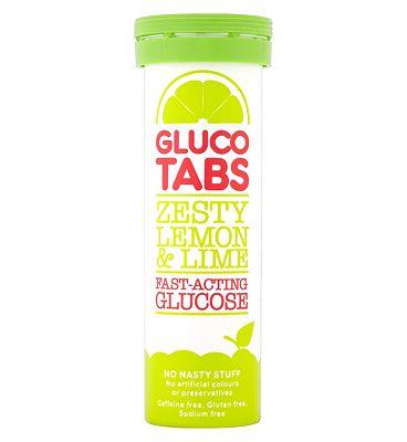 GlucoTabs Zesty Lemon & Lime Fast-Acting Glucose 10 Pack 40g