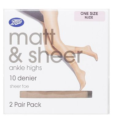 Boots Matte and Sheer Ankle high Nude (2 pack)