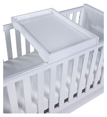 Tutti Bambini Rimini Cot Top Changer  High Gloss White Finish