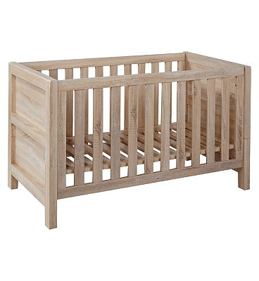Tutti Bambini Milan Cot Bed (including drawer)  Reclaimed Oak Finish