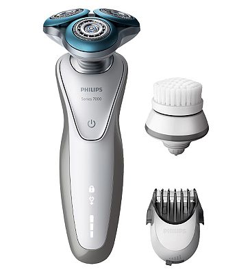 Philips Shaver series 7000 electric shaver S753050 for Sensitive Skin with beard trimmer and cleansing brush