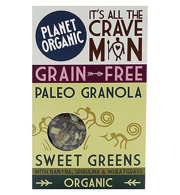 Planet Organic Paleo Granola Sweet Greens 350g