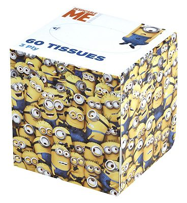 Despicable Me Minion box tissue 60 sheets.