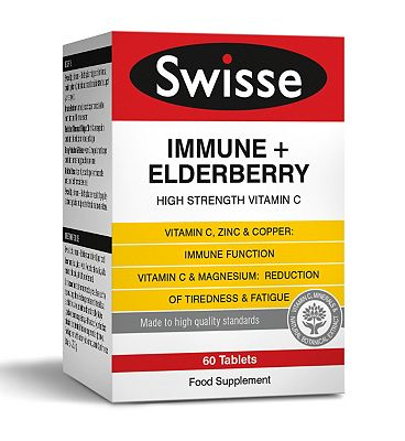 SwisseUltiplus Immune + Elderberry - 60 Tablets