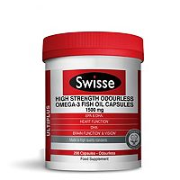 Swisse high strength odourless omega 3 fish oil capsules for High dha fish oil