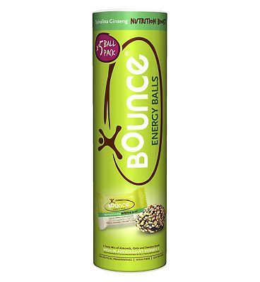 Bounce Energy Balls - Spirulina Ginseng  Nutrition Boost 5 x 42g
