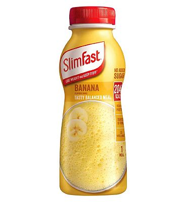 SlimFast Blissful Banana Milk Shake - 325ml.