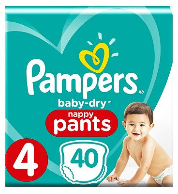 Baby-Dry Pants Size 4, 9-15Kg, 40 Nappy Pants