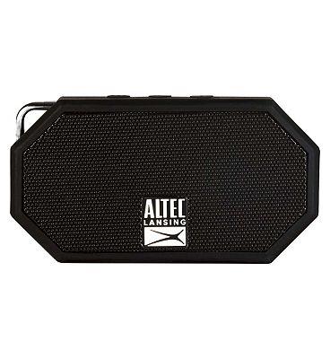 Altec Lansing iMW257 Mini H2O Bluetooth Wireless Speaker Black