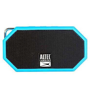 Altec Lansing iMW257 Mini H2O Bluetooth Wireless Speaker  Blue