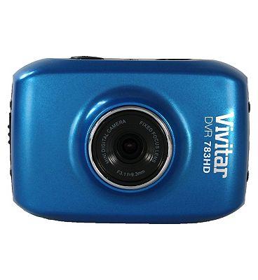 Vivitar DVR783HD 5mp 1.8inch LCD Action Cam  Blue