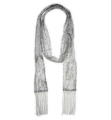 Silver sequin tassel scarf £15.00 AT vintagedancer.com