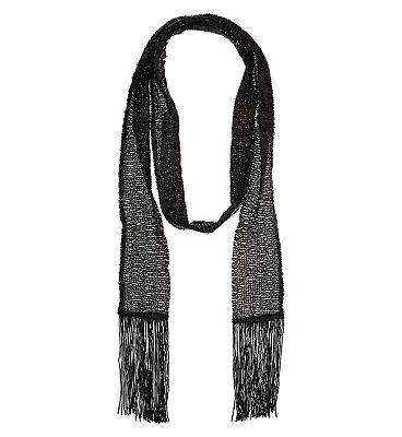 Black sequin tassel scarf £15.00 AT vintagedancer.com