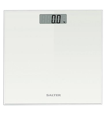 Salter Glass Electronic Scale 9037 White