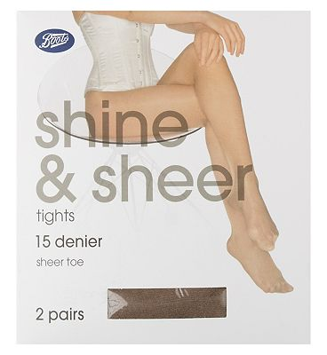 Boots Shine and Sheer tights natural tan medium 2s