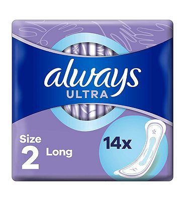 Always Ultra Long Sanitary Towels Single Packs x 14 pads