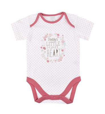 Daddy's little sweat heart' bodysuit Up to 4.5 KG (9.9LBS).