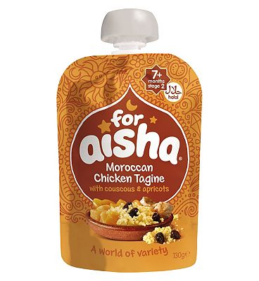 For Aisha Moroccan Chicken Tagine with Couscous & Apricots 7 Months Stage 2 130g
