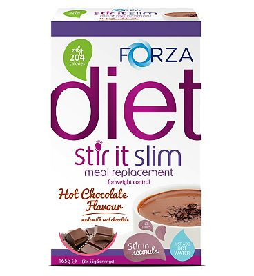 Forza Stir it Slim Meal Replacement Hot Chocolate Flavour -  3 x 55g Serving