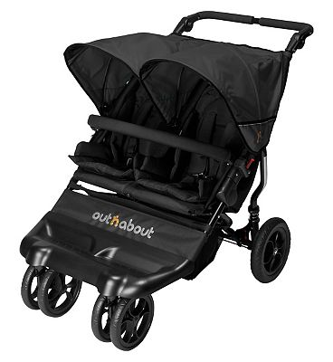 Out n About Little Nipper Double Stroller  Jet Black