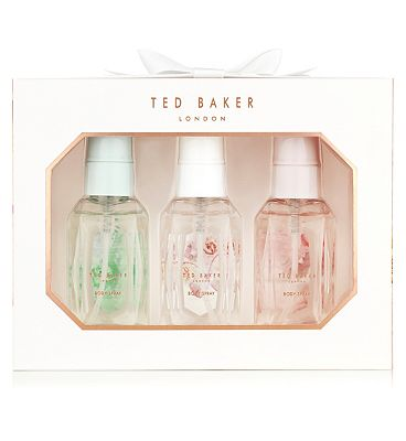 Ted Baker White Mini Body Spray Trio