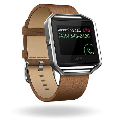 Fitbit Blaze Fitness Super Watch Leather Accessory Band  Camel (Large)
