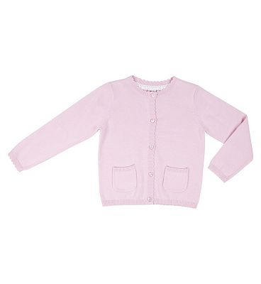Miniclub Girls Pink Value Cardigan, 4-5 YEARS.