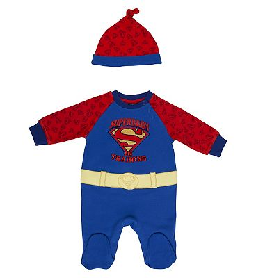 Mini Club Super boy all in 1 and hat, 6-9 MONTHS