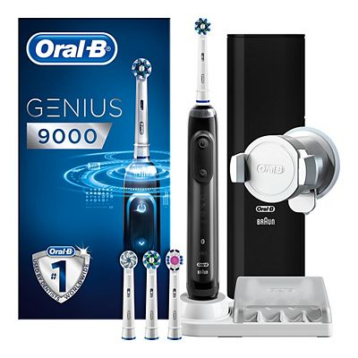 oral b genius 9000 black electric toothbrush powered by braun from oral b buy from boots the. Black Bedroom Furniture Sets. Home Design Ideas