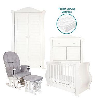Tutti Bambini Marie 5 Piece Nursery Room Set - White.