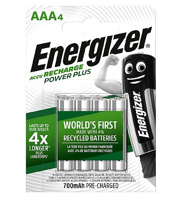 Energizer Power Plus Recharge Battery AAA x 4