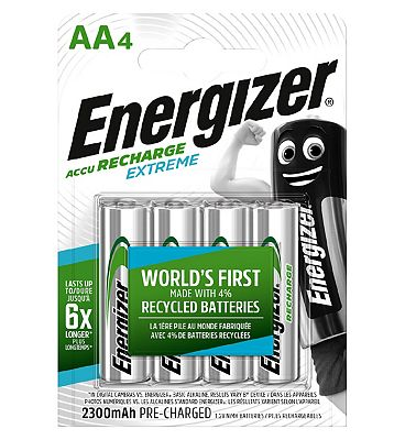 Energizer Extreme Recharge Battery AA x 4