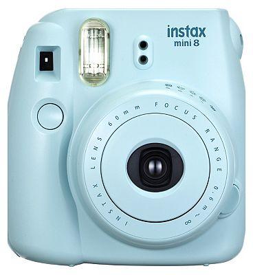 Fujifilm Instax Mini 8 Camera in Blue Plus 10 Instant Film Shots at Boots the Chemist
