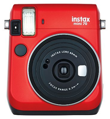 Fujifilm Instax Mini 70 Camera in Passion Red Plus 10 Instant Film Shots at Boots the Chemist
