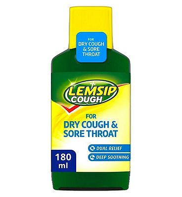 Lemsip Cough for Dry Cough & Sore Throat 180ml.