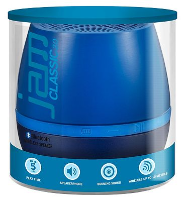 Image of Jam Classic 2.0 Blue Wireless Bluetooth Speaker