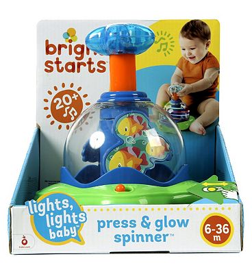Bright Starts Lights Lights Baby Press and Glow Spinner Toy